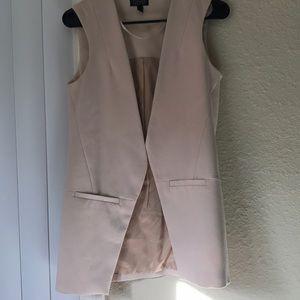 Topshop vest jacket in blush color
